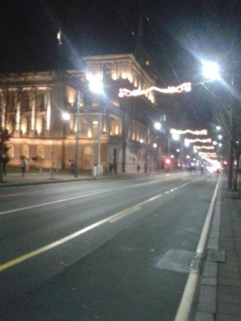 Mercure Belgrade Excelsior: Avenida com várias lojas bem próximo