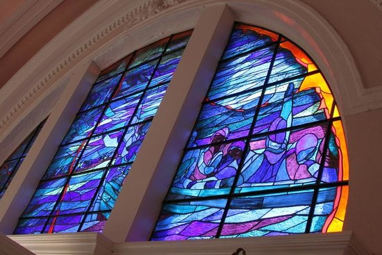Grand Pré National Historic Site: Stained glass window in Memorial Church