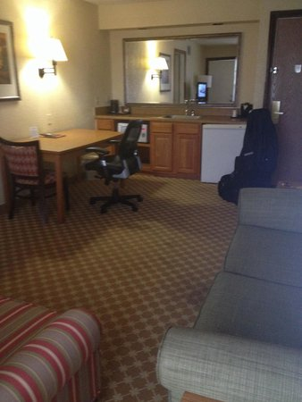 Ramada Huntsville : Old decor, some stains but spacious
