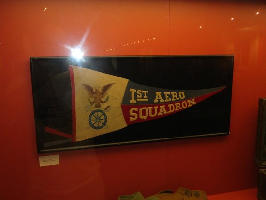 Texas City Museum: Banner for the Aero Squadron.