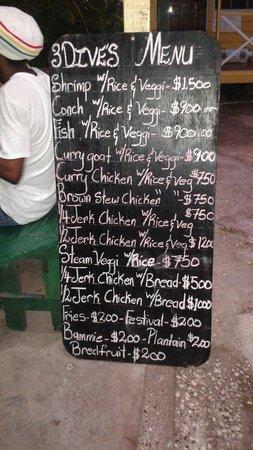 3 Dives Restaurant: Amazing menu...