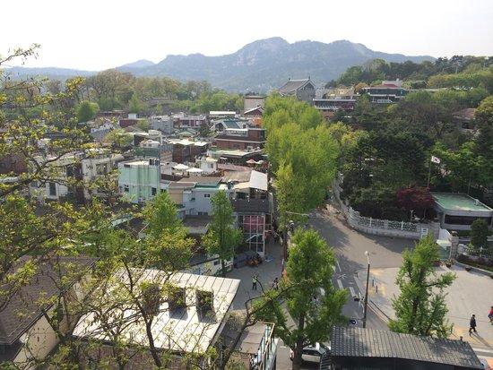 Pueblo hanok de Bukchon: View from hill