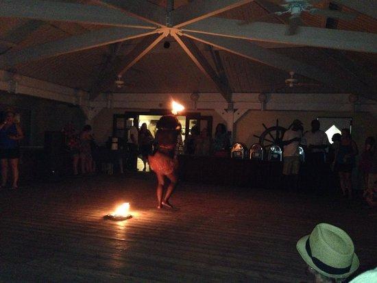 Grand Lucayan, Bahamas: Fire dancer from Sunday June 22nd Bonfire
