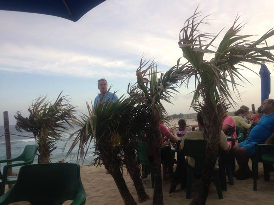 Coconuts Bar and Grill : Windy but fun!