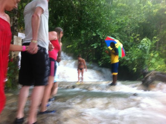 Dunn's River Falls and Park: the chane.