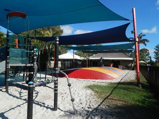 NRMA Treasure Island Holiday Resort: Jumping pillow and playground