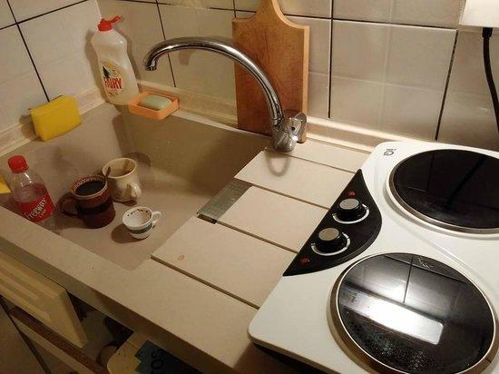Afroditi Pansion: Kitchen detail