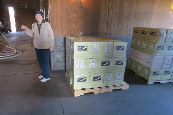 Frog's Leap Winery: The wife with some tempting cases