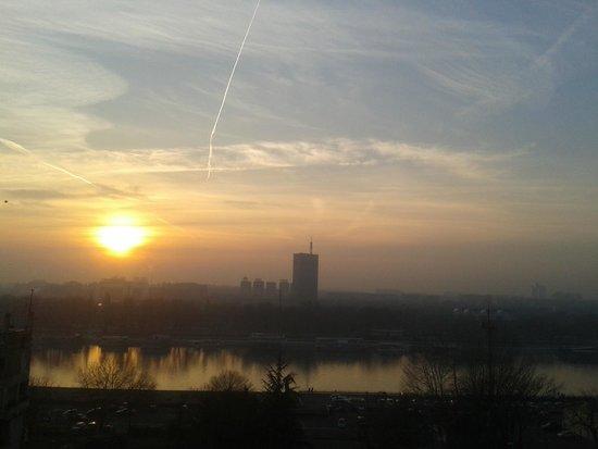 Sava River: Por do sol