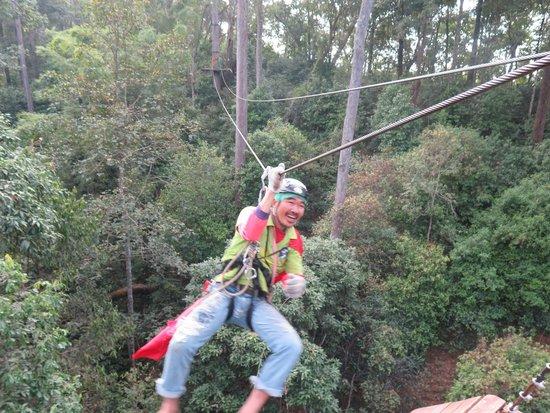 Jungle Flight : Our crazy guide! hahaha!