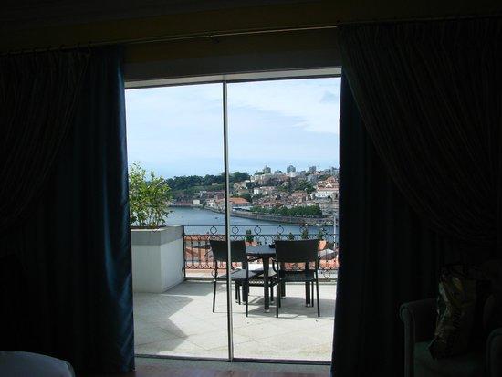 The Yeatman : Varanda do quarto - linda vista do rio e do Porto