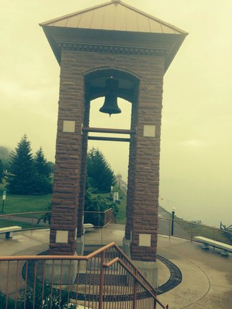 Iron Ore Heritage Trail: The bell used to announce nmu football wins!