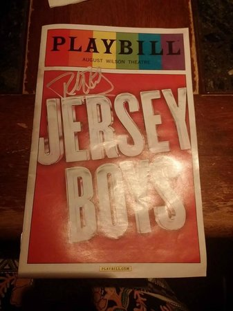 Jersey Boys: Autographed brochure - wait out on the main street after the show