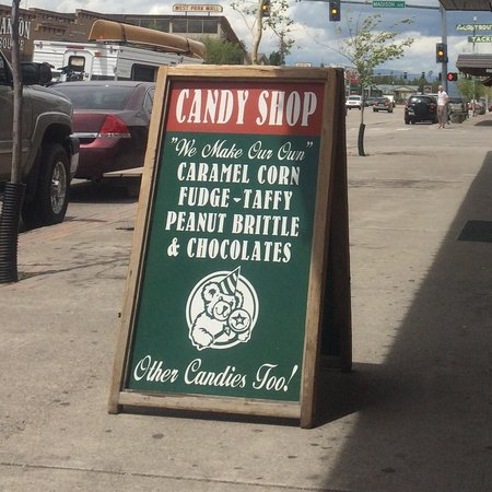 Rustic candy shop: Located on the main strip.