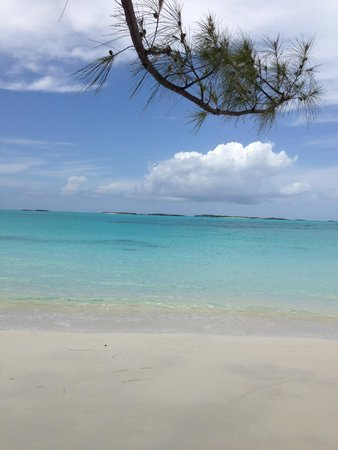 Exuma Beach Resort: View from Jolly Hall beach which is in walking distance.