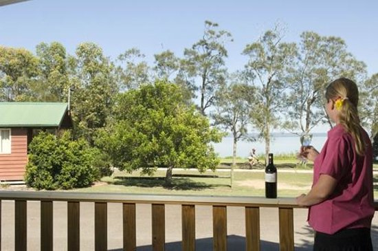 Canton Beach Holiday Park: View from Kingfisher Cabin
