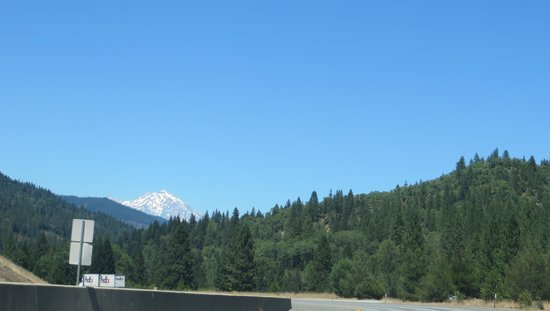 BEST WESTERN PLUS Tree House: driving north towards Mt Shasta