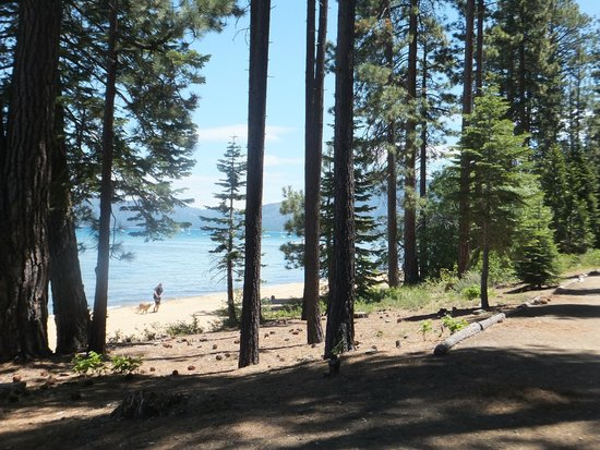 Tallac Historic Site: Beach front at the Tallac Estate