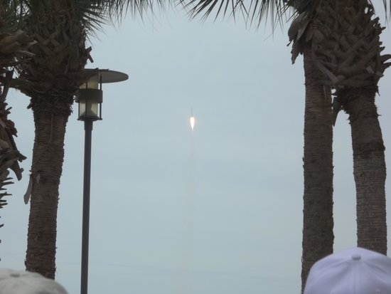 NASA Kennedy Space Center Visitor Complex: Rocket Launch 4/18/14
