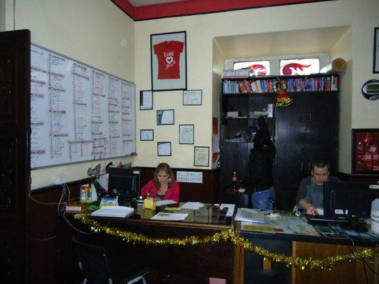 LOKI La Paz: Recepção do Hostel (credito da foto para Kinho de Jaú)