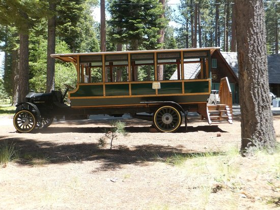 Tallac Historic Site: A vintage car displayed at the grounds