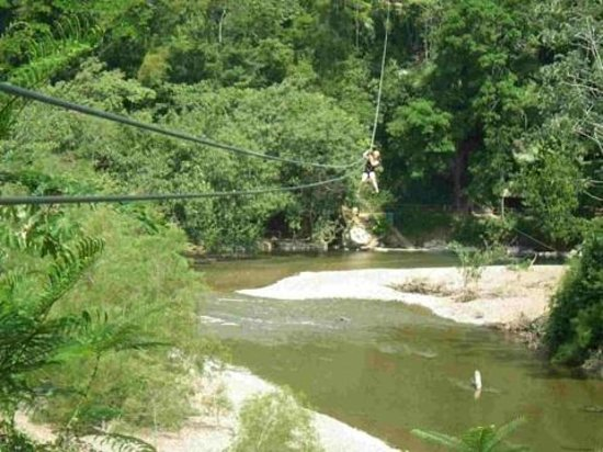 Chabil Mar: Zip lining in jungle