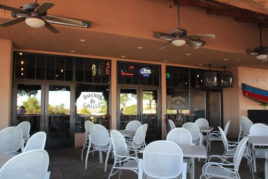 Dam Bar & Grille : The Outdoor Seating