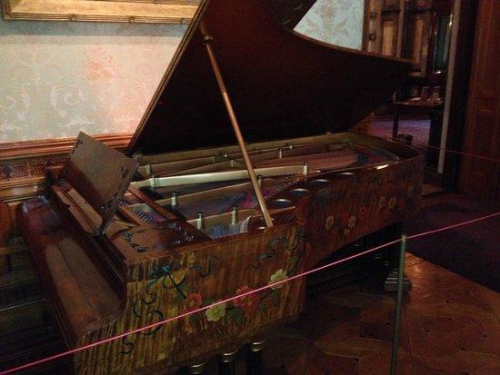 Richard H. Driehaus Museum: Chickering grand in the music room