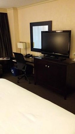 The Westin Detroit Metropolitan Airport: Desk for business work, flat screen TV for entertainment