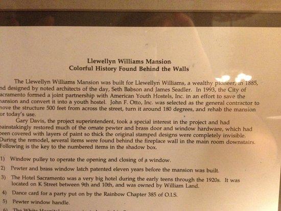 Hostelling International Sacramento : Historical info on the house