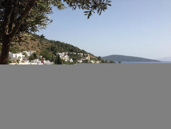 Aegean Gate Hotel : View of the sea from the patio