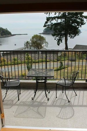 Mayne Island Resort: Our rooms patio and view