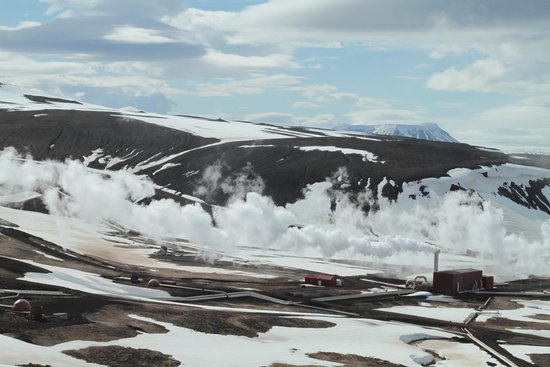 Krafla Lava Fields: Geothermal Plant in the way