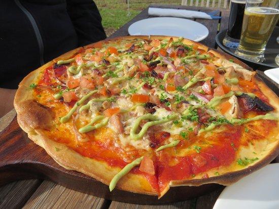 جزيرة واهيكي, نيوزيلندا: Yum...pizza!
