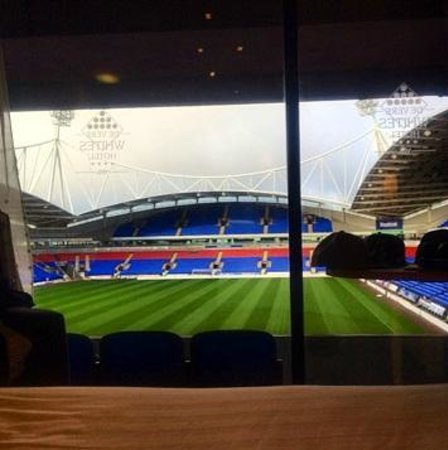 Bolton Whites Hotel : View From Room With Empty Stadium