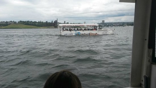 Ride the Ducks of Seattle: picture taken from our duck ride across the water