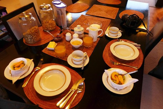 Reflection Lodge : Breakfast setup