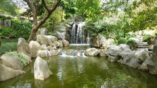 Chinese Garden of Friendship: Calming waterfalls