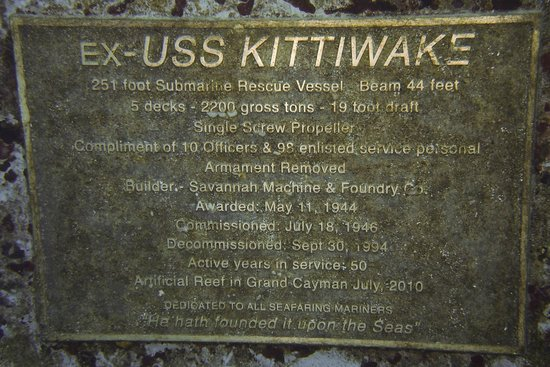 Kittiwake Shipwreck & Artificial Reef: nameplate