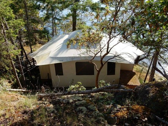 Rockwater Secret Cove Resort : The Tent Suite From The Top of the Boardwalk