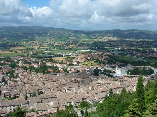 Funivia Colle Eletto : View from the Funivia over Gubbio