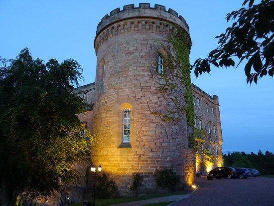 Dalhousie Castle: Lit up at 10pm
