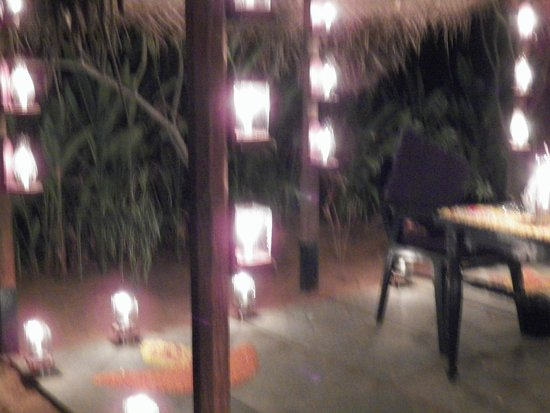 The Dune Eco Village & Spa: The private dinner arrangement