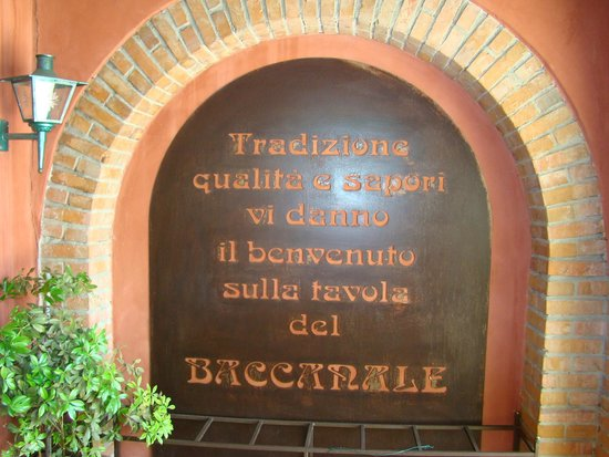 Al Baccanale : presentazione