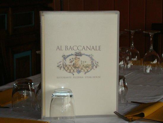 Al Baccanale : il menù