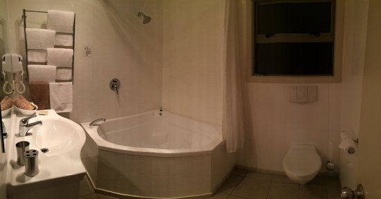 Omahu Motor Lodge: Panorama of bathroom