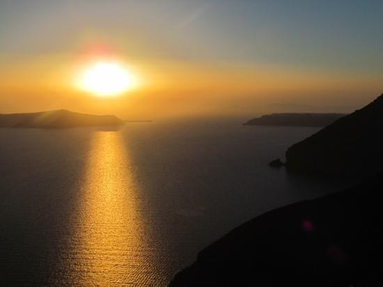 Naoussa Restaurant: sunset view from Naoussa