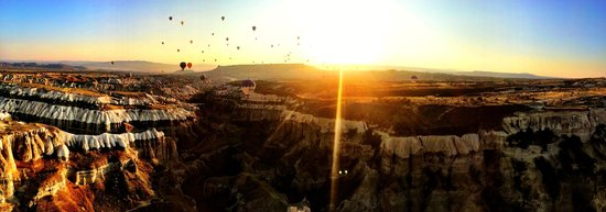 Butterfly Balloons : Gorgeous sunset