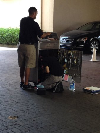 Embassy Suites by Hilton Tampa - Airport/Westshore: Valet searching for my car keys