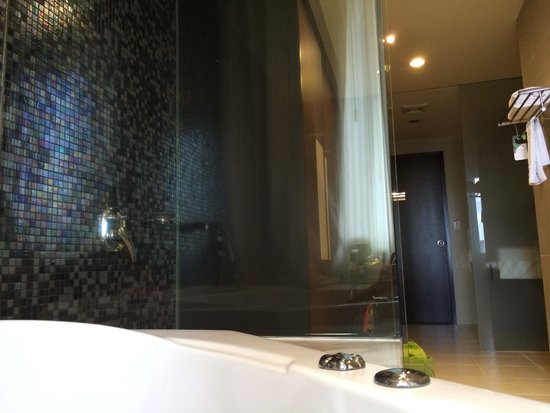Palace Hotel Saigon: Bathroom ( shower and bathtub) in suite